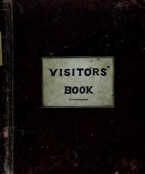 Visitors' Book of Birr Castle Observatory, 1850-2014 (L/6/2) Spread 0 cover